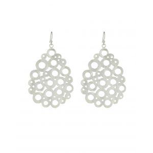 ashiana silver statement earrings