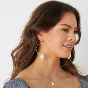 Dominique Large Hoop Earrings Silver