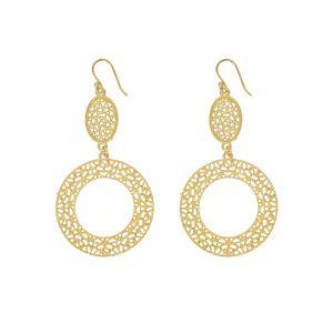 Kensington Gold Lace Hoop Earrings