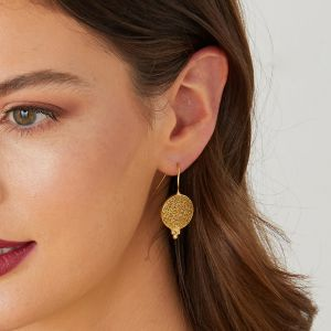 Algir Gold Coin Earrings