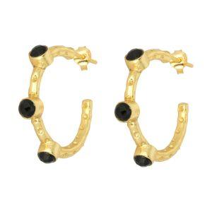 Mini Cruise Earrings Black Onyx