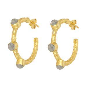 Mini Cruise Earrings Labradorite