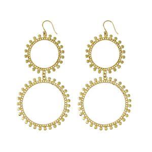 Double Sunray Earrings