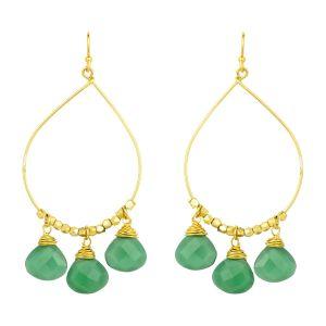 Bella Earrings Green Onyx