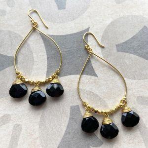 Bella Earrings Black Onyx