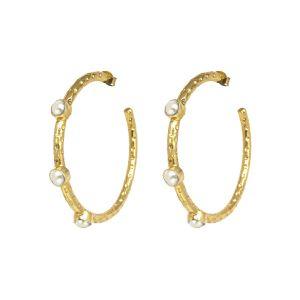 Cruise Hoop Earrings Freshwater Pearl