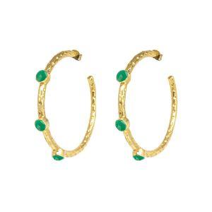 Cruise Earrings Dark Green