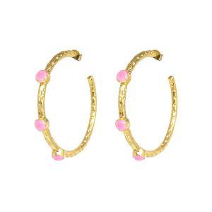 Cruise Hoop Earrings Pink Jade