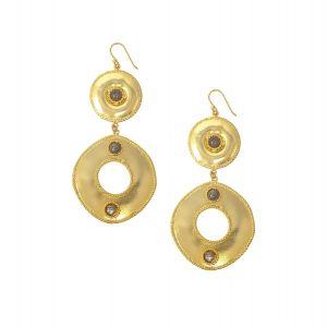 Ocean Whirlpool Earrings Labradorite