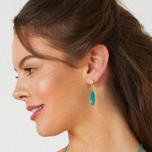 Ocean Dropstone Earrings Aqua Chalcedony