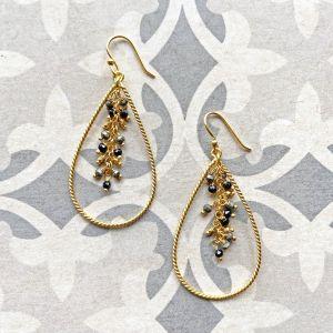 Indore Black Onyx Earrings