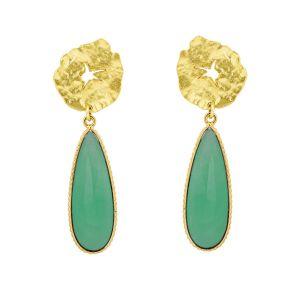 Atlantis Earrings Green Onyx