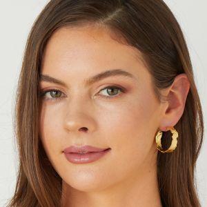 Lorene Gold Hoop Earrings