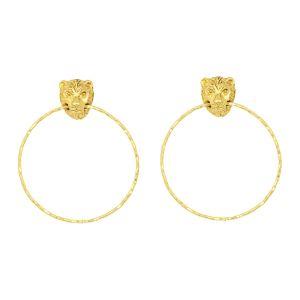 Leo Large Earrings Gold