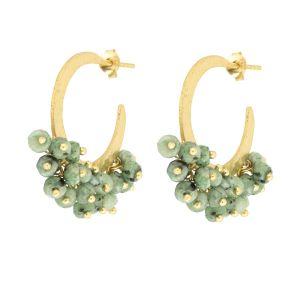 Marina Hoop Earrings Green Chrysoprase
