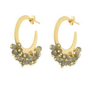 Marina Hoop Earrings Labradorite
