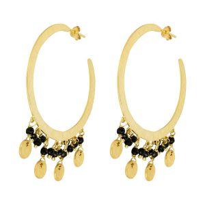 Serena Hoop Earrings black