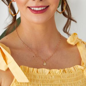 Selina Necklace Coral