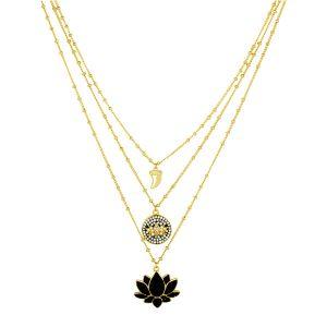 Black Lotus Necklace