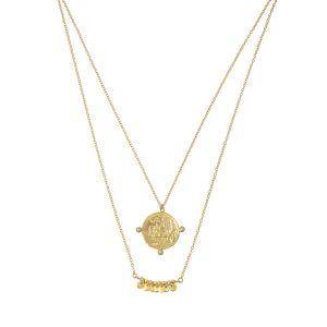 Apollo Pearl Necklace Gold