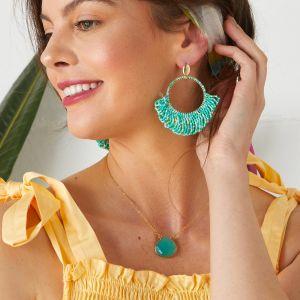 Chalcedony Gemstone Necklace Ashiana