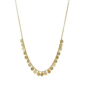 Boho Multi Gold Coin Necklace