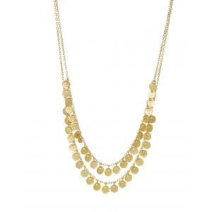 Two Row Boho Necklace Gold