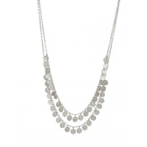 Two Row Boho Necklace Silver
