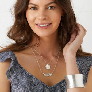 Greek Island Necklace Silver