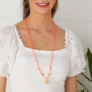 Mireya Necklace Coral