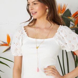 Summer Breeze Necklace Pink