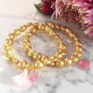 Goa Bracelet Pink Jade