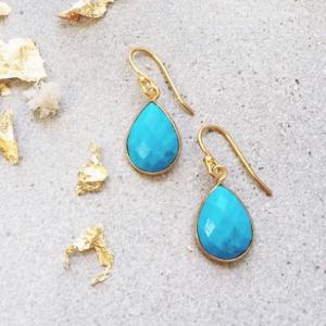 Ava Turquoise Gemstone Drop Earrings